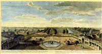 prospect of st. james park from buckingham house by jacques rigaud
