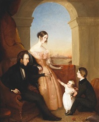 the james cushing family by louis lang