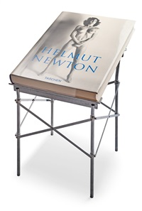 sumo (book stand designed by philippe starck) by helmut newton