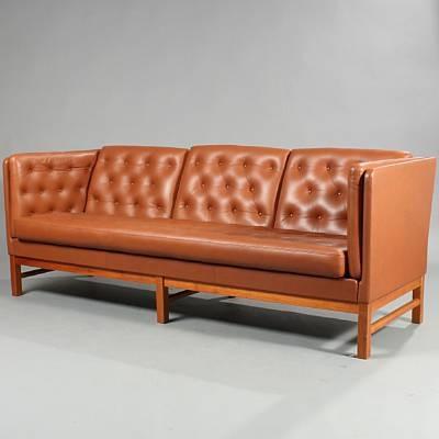 free standing three seater sofa model ej 315 by erik ole j rgensen on artnet. Black Bedroom Furniture Sets. Home Design Ideas