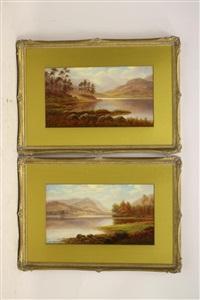 blae tarn westmorland; grasmere westmorland (pair) by everett w. mellor