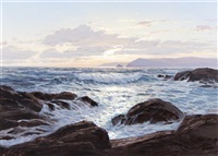 splendor of evening tide by leonard c. lane
