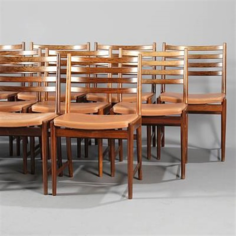 brazilian dining chairs set of 12 by kaj lyngfeldt larsen