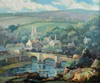 wiltshire village by george ayling
