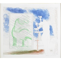 a picture of ourselves from the blue guitar by david hockney