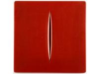 concetto s0paziale rosso by lucio fontana
