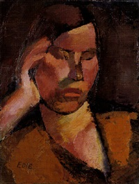 portrait de femme (studie; verso) by theo eble