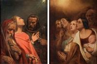 de tre vise männen och konungarnas tillbedjan (pair) by ary scheffer