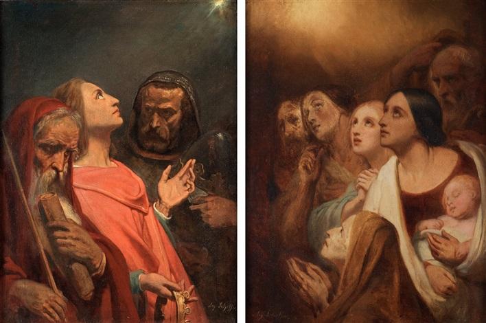 de tre vise männen och konungarnas tillbedjan pair by ary scheffer