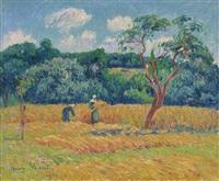 les blés, pays de riec by henry moret