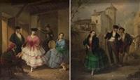 escenas populares andaluzas (pair) by manuel cabral aguado bejarano