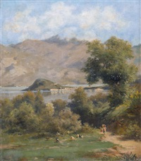 sommerliche seelandschaft by silvio poma