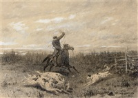 hunting with borzoi by petr petrovich sokolov