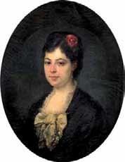 retrato de joven con flor by eduardo cortés y cordero
