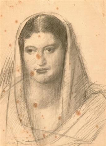 ritratto di donna by achille funi
