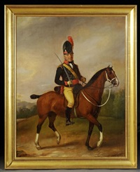 dragon ou hussard anglais, cavalerie légère, ier empire by richard livesay