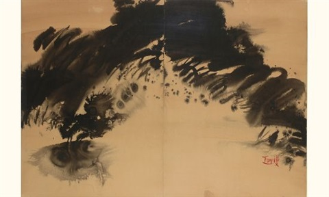 paysage abstrait by tang haywen
