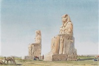 the colossi at memnon, thebes by richard phene spiers