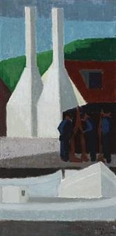 a smokehouse in gudhjem, denmark by axel munch