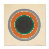 a warm sound in a gray field by kenneth noland