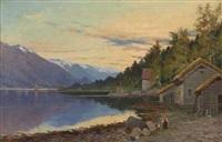 fjordparti fra hardanger by jacob julius holck