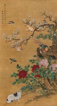五堂富贵 (flowers and birds) by ma yuanyu