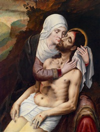 pietà by master of the prodigal son