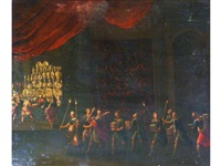 the preparation for, and the feast of belshazzar (pair) by hans von aachen