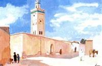 mosquée à el kelaa, maroc by pierre lissac