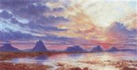 sunset by sigismund christian hubert goetze
