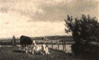 cows in a polder landscape by gesina johanna francina vester