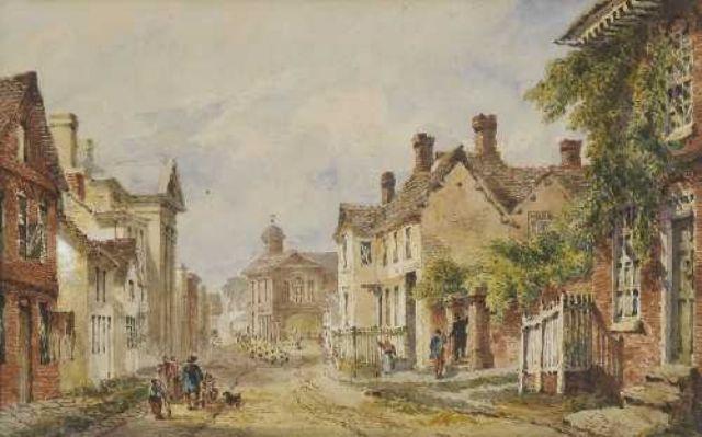 straßenszene in englischer kleinstadt by joseph murray ince