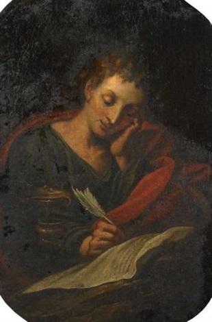 der heilige johannes schreibend by hans rottenhammer the elder