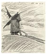 windmühle auf einer bergkuppe by lyonel feininger