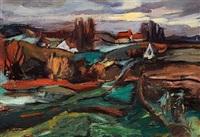 norsk landskab by hans haakoe
