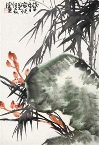 兰花奇石 by chen peiqiu