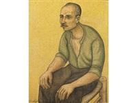 seated man by louay kayyali