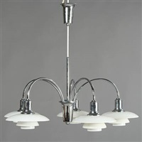 cascade ph chandelier with five arms by poul henningsen