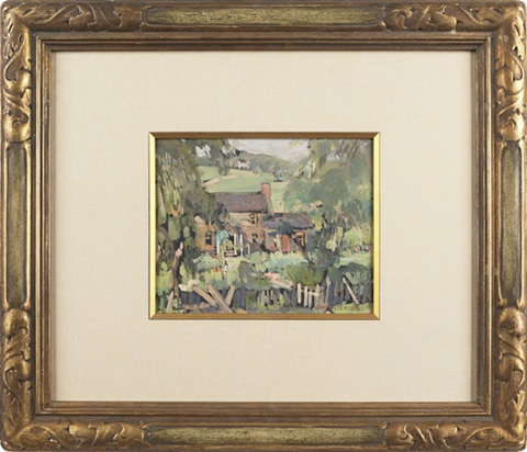 landscape with house by jane peterson