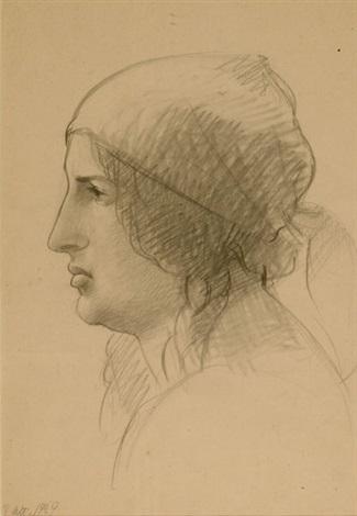 profilo femminile by achille funi