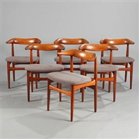 brazilian chairs (set of 6) by knud faerch