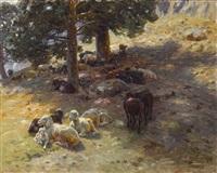 ruhende herde by hermann hartwich