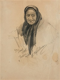 elderly woman (study) by vladimir perelman