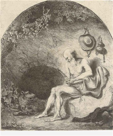 saint jerome in a cave by ferdinand bol