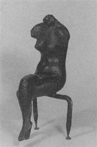 sitzender weiblicher akt by joachim dunkel
