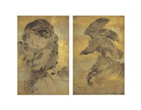 tiger and hawk (pair) by gantai