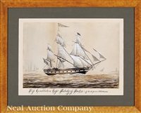 ship constitution, capt. peabody of boston, off south point n. orleans by american school (19)