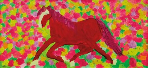 cheval en rose by walasse ting