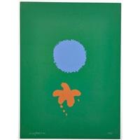 green ground blue disk by adolph gottlieb