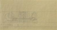 mostra del minerale, padiglione autarchia, bozzetto b by enrico prampolini